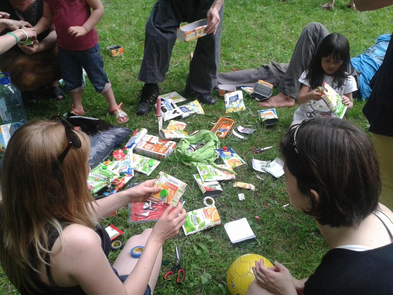 ParkuJeMyEko - recycling daje owoce, zielonka partyzantka